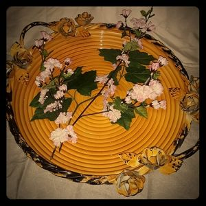 "Fabulous! Vintage 16"" Round Tray W/ Handles"